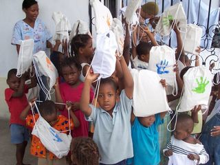 Haiti Peace Packs Group Overhead