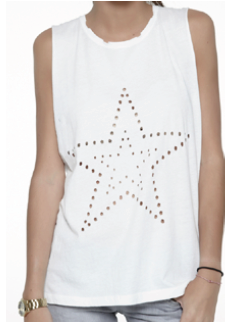 2star holed tank top