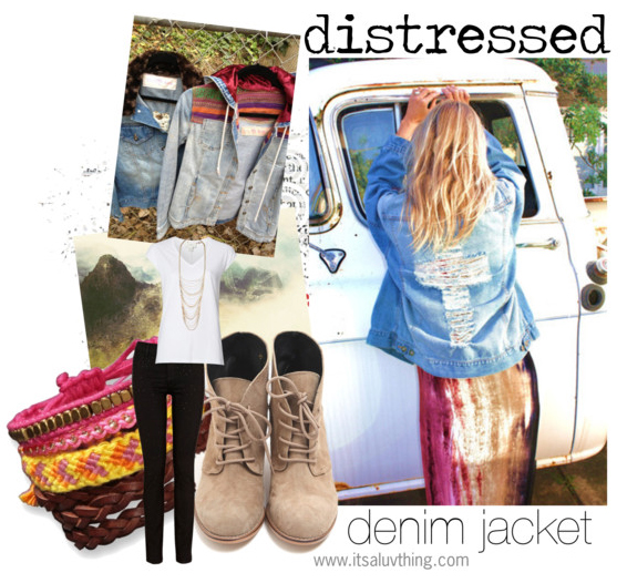 Distressed-denim